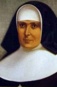 detail of an illustration of Blessed Manuela Justa Fernández Ibero, date and artist unknown; swiped from Santi e Beati