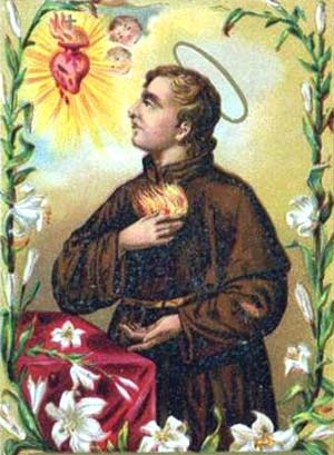 detail of an antique holy card of Blessed Marco De' Marconi, date and artist unknown; swiped from Santi e Beati