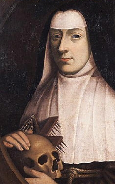detail of a painting of Blessed Margaret of Lorraine; artist and date unknown; swiped from Wikimedia Commons