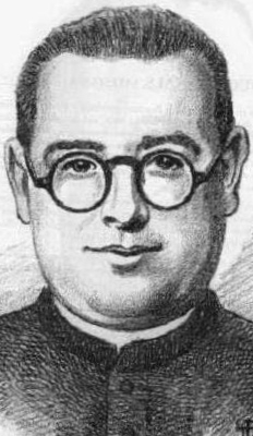 detail of an illustration of Blessed Pedro Mesonero Rodríguez, date and aritst unknown; swiped from Santi e Beati