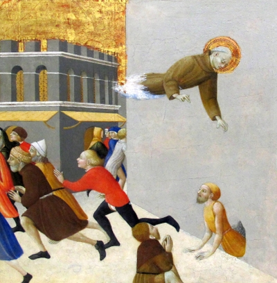 detail of the painting 'Blessed Ranieri Delivering the Poor from a Prison in Florence' by Stefano di Giovanni di Consolo da Cortona, early 15th century; Musée du Louvre, Paris, France; photographed by Sailko on 15 November 2013; swiped from Wikimedia Commons