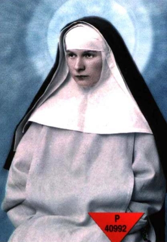 detail of a holy card of Blessed Stanislawa Rodzinska; swiped from Santi e Beati