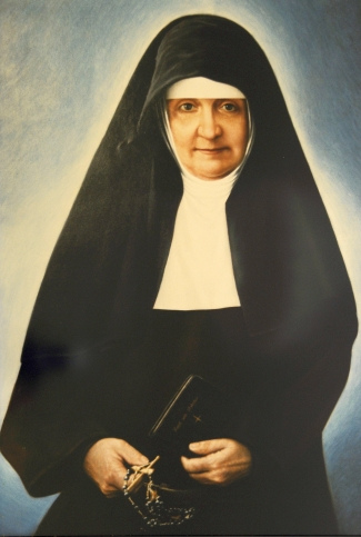 picture of Mother Maria Bernarda Bütler; the original is in the Provincial House of the Missionary Franciscan Sisters of Switzerland; swiped from Wikimedia Commons