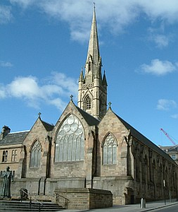Cathedral of Saint Mary, diocese of Hexham and Newcastle; taken March 2006 by James@hopgrove; swiped from Wikimedia Commons