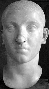 bust of Emperor Alexander Severus, date unknown, artist unknown; Louvre, Paris; photograph by BlaiseMuhaddib; swiped from Wikimedia Commons