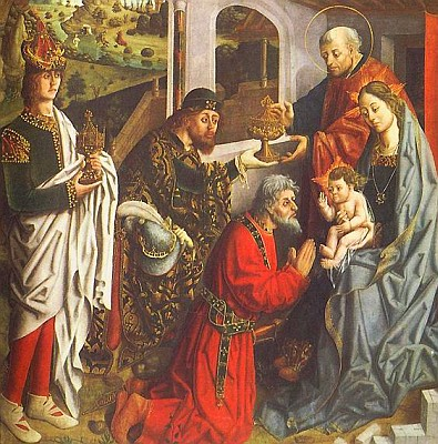 detail of 'Epiphany', by Fernando Gallego, c.1480, Toledo Museum of Art, Toledo, Ohio