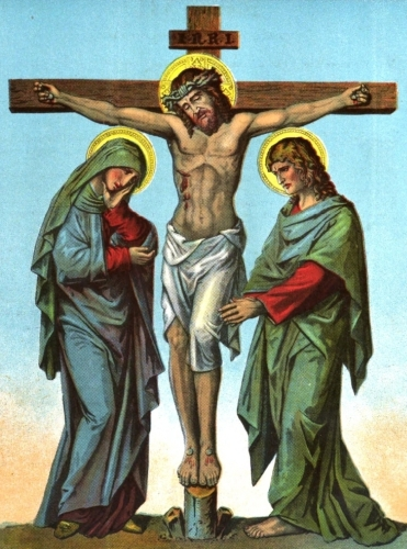 the Crucifixion with the Blessed Virgin Mary and Saint John the Apostle