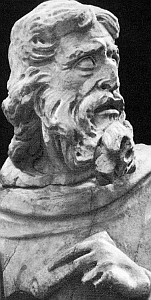 photograph of a bust of Haggai by Giovanni Pisano, 1285-95, Duomo, Siena, Italy