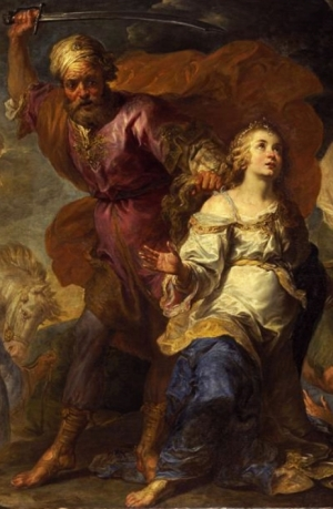 detail from the painting 'Martyrdom of Saint Dymphna and Saint Gerebernus' by Gerard Seghers, early 17th century; Staatsgalerie im Neuen Schloss, Schleißheim, Germany; swiped from Wikimedia Commons