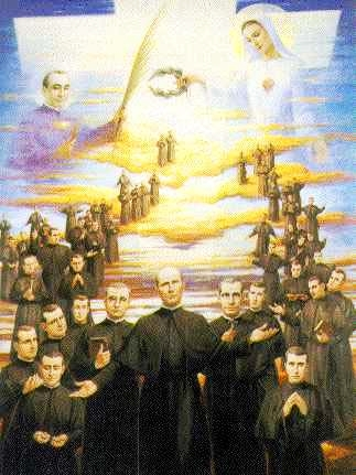 holy card of the Martyred Claretians of Barbastro, date and artist unknown; swiped from Santi e Beati