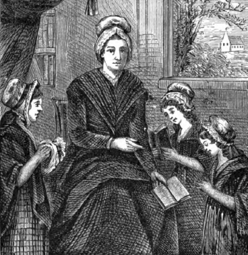illustration of Miss Fionora Nagle from the 1874 Illustrated Catholic Family Annual, artist unknown