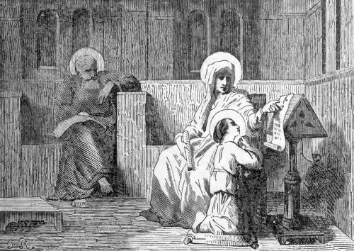 Pictorial Lives of the Saints illustration for Saint Anne
