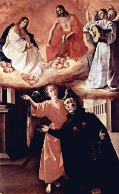painting 'Vision of Alonso Rodriquez', by Francisco de Zurbarán, Museo de la Academia de San Fernando, Madrid