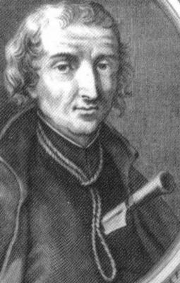 1683 engraving of Saint David Lewis