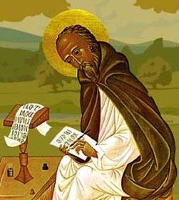 illustration of Saint Drostan, date and artist unknown; swiped from Santi e Beati