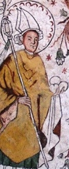 detail of a painting of Saint Eskil, Overselo, Sweden, artist unknown