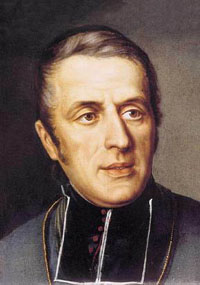 detail of the 1854 painting of Saint Eugene de Mazenod, artist unknown