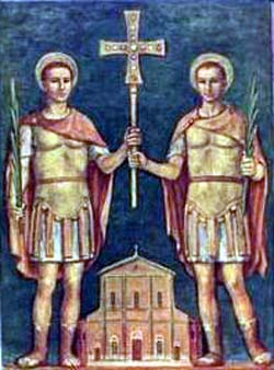 Saint Felix and Saint Nabor; swiped from Santi e Beati