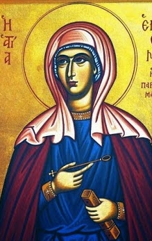 icon of Saint Hermione, date and artist unknown