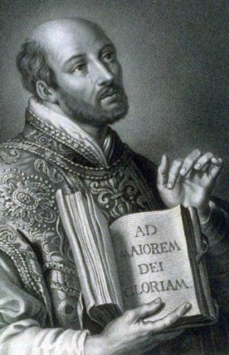 detail of an illustration Saint Ignatius of Loyola; date unknown, by William Holl the Younger; swiped from Wikimedia Commons