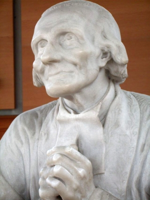statue of Saint Jean Marie Vianney, by Emilien Cabuchet, 1867; photographed in March 2009 by Andreas König; swiped off Wikipedia