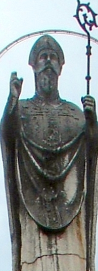 statue of Saint Johannes von Trogir; date and artist unknown; Trogir, Croatia; photographed on 19 September 2007 by Airin; swiped from Wikimedia Commons