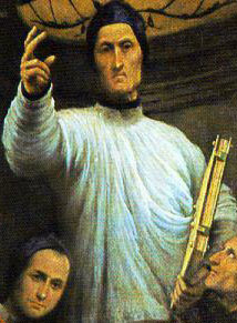 detail from the painting 'St Lorenzo Giustiniani and Other Saints'; 1532 by Il Pordenone; Accademia of Venice, Italy; swiped from Wikimedia Commons
