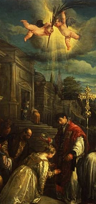 baptism of Saint Lucilla of Rome