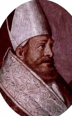 portrait of Saint Maximian of Vercelli, date and artist unknown; swiped from Santi e Beati
