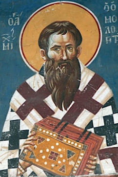 detail of a frescoe of Saint Michael of Synnada, c.1295 by Eutychios and Michale Astrapas, church of Saint Kliment Ohridski, Ohrid, Macedonia