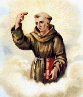 detail of an Italian holy card of Saint Pacificus of Cerano, date unknown, artist unknown; swiped from Santi e Beati