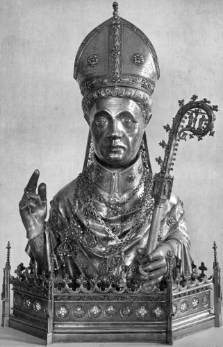 silver reliquary of Saint Plechelm of Guelderland, artist unknown; Oldenzaal, Netherlands; swiped from Wikimedia Commons