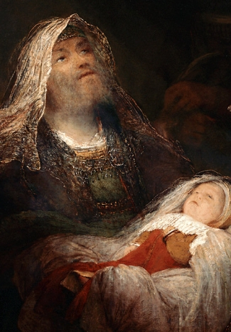detail of the painting 'Simeon's song of praise' by Aert de Gelder, c.1705; oil on canvas; Royal Picture Gallery, Mauritshuis, The Hague, Netherlands