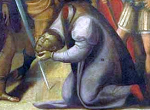 detail of a painting of the Martyrdom of Saint Ursicinus of Ravenna, 1558, by Luca Longhi, Museo d'Arte della Citta, Ravenna, Italy