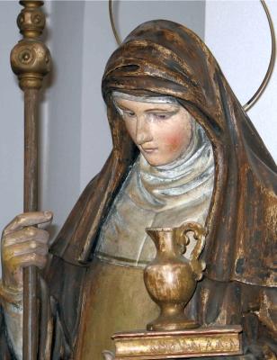 statue of Saint Walburga, artist unknown, Contern, Luxembourg