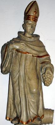 wooden statue of Saint Wigbert of Fritzlar, c.1700, artist unknown, church of Saint Mary in Burlo, Germany