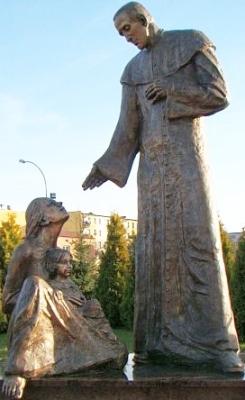 statue of Saint Zygmunt Gorazdowski, Sanok, Poland; artist unknown; photographed in 2010 by Silar; swiped off Wikipedia