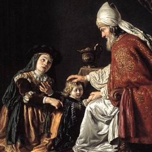 detail from 'Hannah Giving Her Son Samuel to the Priest', by Jan Victors, 1645, Staatliche Museen, Berlin