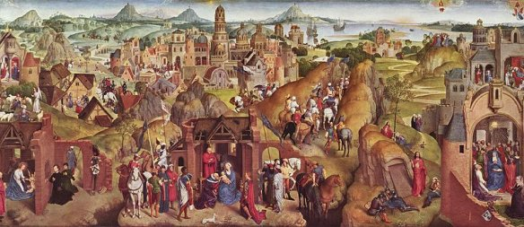 the painting 'Seven Joys of the Virgin' by Hans Memling