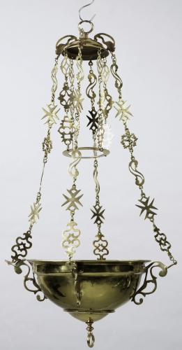 18th century brass Italian altar lamp; Cooper Hewitt, Smithsonian Design Museum; swiped from Wikimedia Commons