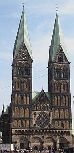 Bremen cathedral; swiped from Wikimedia Commons