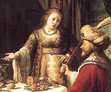 detail from 'The Banquet of Esther and Ahasuerus' by Jan Victors, 1640, Staatliche Museen, Kassel