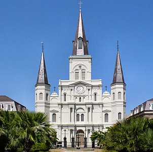Cathedral of Saint Louis IX, archdiocese of New Orleans, Louisiana; swiped off Wikipedia