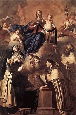 'Our Lady of Mount Carmel' by Pietro Novelli