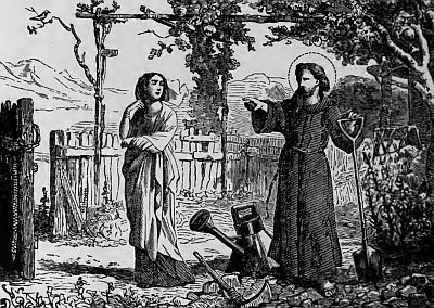 Saint Serenus, Gardener, Martyr, from Pictorial Lives of the Saints