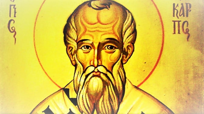 Feb. 23:  ST. POLYCARP, BISHOP AND MARTYR.  Short bio and martyrdom account.