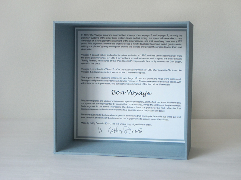 Bon Voyage, an artist's book by Cathy Durso