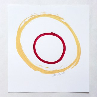 Yellow Red Circle