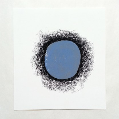 Blue Circle with Black Border