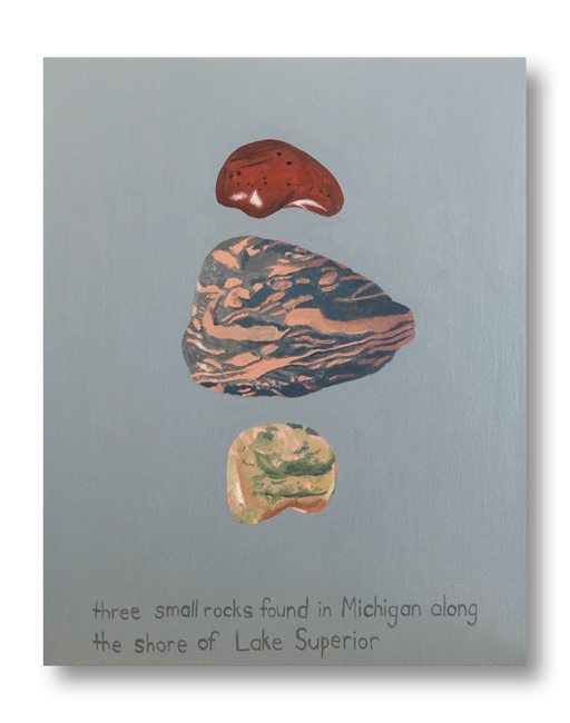 Three Small Rocks - painting by Cathy Durso